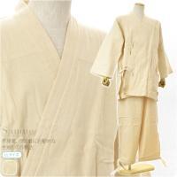 部屋着、作業着にお勧めな生成りの作務衣です。 年中着れるしっかりとした生地感の作務衣です。 作務衣は...