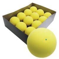 ハイクオリティ軟式テニスボール練習球 イエロー 12個(1ダース)【ソフトテニスボール】