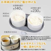 サンコー お一人様用ハンディ炊飯器 1.3合 MINIRCE2 弁当箱型小型炊飯器 蒸気/スチーム式 a-do 07