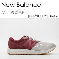 商品名:New Balance ML1980AB ニューバランス バーガンディ グレイ ブランド:N...