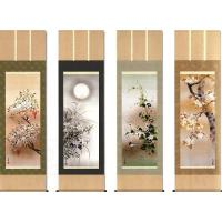 春夏秋冬、季節に合わせて掛け替えられる四幅組に揃えた人気の花鳥画美しい日本の四季折々の風情を、愛らし...