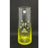 アデリア 津軽びいどろミニ花器 日本製 サイズ:最大60 口50 高さ150 赤は還暦祝いに、黄色は...