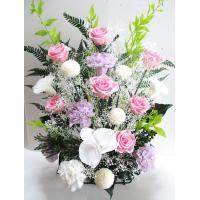 枯れない仏花で一年中お仏壇をきれいに。御供え用として。(高さ45x横30x奥行き20)/フラワーアレ...