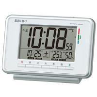 SEIKO セイコー 目覚まし時計 電波時計 デジタル ウィークリーアラーム SQ775W●サイズ/...