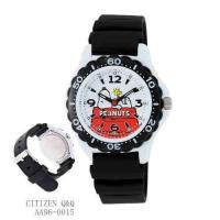 ◆シチズン Q&Q クオーツ腕時計 ◆PEANUTSスヌーピー3気圧防水 AA96-0015 ボーイ...