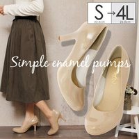 4L対応。流行に左右されない王道の1足!洋服を選ばないパンプスが一足でもあるととっても便利。どんなコ...