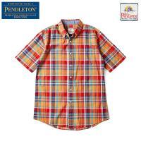 PENDLETON ペンドルトン フィッティド シーサイドボタンダウンシャツは、コットンチェックの半...