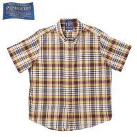 ペンドルトン PENDLETON オーシャンサイド ショートスリーブシャツは、インディアマドラスコッ...