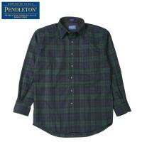 PENDLETON ロッジシャツ クラシックフィット AA037は比較的ゆったりとしたサイズ感のラウ...