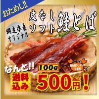売れ筋ランキング1位獲得!網走水産オリジナル 北海道産手造り鮭とば ソフト・100g ポイント消化/500