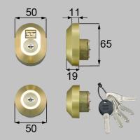 DRZZ3003 MC-0479 トステム 玄関ドア用交換用シリンダー
