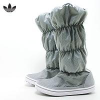 アディダス adidas スニーカー アディウィンター ブーツ レディース (グレー+ホワイト)(ADIWINTER BOOT)(111026)