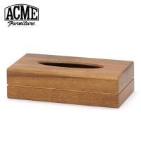 ウッド素材のACMEオリジナルティッシュボックス(ケース)です。家具同様に木目や節を活かしたデザイン...