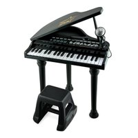 おもちゃ ピアノ 子供用楽器 37キーのグランドピアノ。録音,再生機能付き。8つの楽器音選択,8つの...