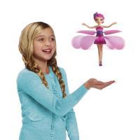 【お子様が喜ぶ!手のひらの上でくるくる飛んで回る人形】 光るスカートが羽になり、くるくる回って飛ぶパ...