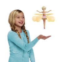 【お子様が喜ぶ!手のひらの上でくるくる飛んで回る人形】 光るスカートが羽になり、くるくる回って飛ぶ宵...