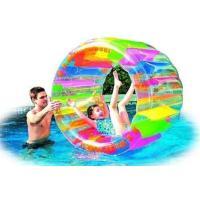 【ウォーターホイール レインボー プール 水遊び フロート】 膨らませて水に浮かべ、回転させたりして...