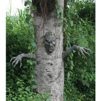 悪霊の森の悪魔の木の顔面と両手の3つのセットです。 庭や自宅の木製品などに飾ると、まとわりつくような...