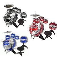 音楽を始めるお子様にぴったりの楽器、11ピースも備えたドラムセットです。 色を黒、赤、青からお選びく...
