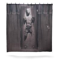 ハン・ソロのカーボン凍結をモチーフにしたシャワーカーテンです。シャワー・カーテンとカーテンフック12...