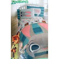 ディズニー「ズートピア」のキャラクターたちが可愛い、ツインサイズの布団4ピースセットです。  *掛け...