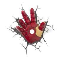 マーベル・コミックのスーパーヒーロー・アイアンマンの手の3D壁用LED照明です。まるで壁から手が出て...