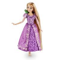 ディズニー「塔の上のラプンツェル」より髪の長いラプンツェルの人形です。飾りが美しいサテンのきらびやか...