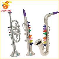 お子様のために約40.6cmの長さに設計された楽器セットです。シルバーカラーのトランペット、クラリネ...