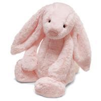 Jellycat ジェリーキャット ぬいぐるみ うさぎ ウサギ 鈴付 ピンク バシュフル 赤ちゃん 幼児 クリスマス ギフト