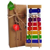 クリスマスギフト用デコレーションキット付き、カラフルな幼児用木琴 鉄琴 ビブラフォン です。 木琴は...