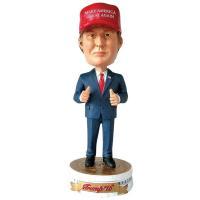 高さ約18cm, レジン製 ドナルド・トランプ大統領のバブルヘッド人形です。  本商品は話したり音が...
