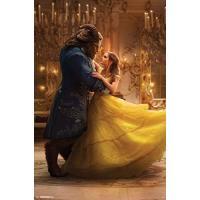 実写版美女と野獣の野獣とベルがダンスをしているポスターです。  高品質プリント  57cm x 86...