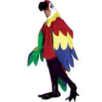 マルチカラーの羽根つきボディス、オウムのヘッドと尻尾。シューカバー【生物・動物・トリ】  本商品はハ...