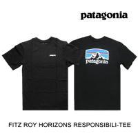 PATAGONIA パタゴニア Tシャツ FITZ ROY HORIZONS RESPONSIBILI-TEE BLK BLACK