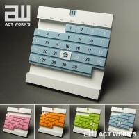 actwork's デートブロック ライト 万年カレンダー デスクカレンダー ステーショナリー 文房具