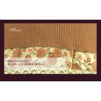 アジアンテイストなレース裾のセーター ブラウン(伊Pu) イタリア製