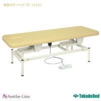 (高田ベッド 昇降)  有孔電動ボディベッド TB-1344 昇降 マッサージベッド 脚部組立式  (ポイント3倍)