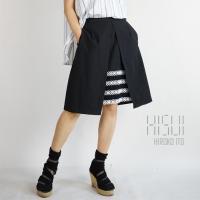 レイヤード レースフレアースカート ブラック レディース HISUI(ヒスイ)