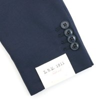 【秋冬セール】エルビーエム1911/L.B.M.1911 ジャケット メンズ SOFT SLIM(J) ウールジャケット ネイビー 2140-72206-NAV1