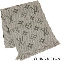 ルイヴィトン LOUIS VUITTON LV マフラー レディース ストール エシャルプ ロゴマニア M72242 ヴェローヌ グレージュ