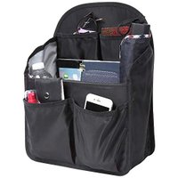 バッグインバッグ リュック タテ型 A4 自立 軽量 レディース メンズ bag in bag ナイロン ブラックL