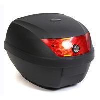 リアボックス トップケース バイクボックス バイクケース 収納 ブラック 黒 28L 簡単装着 鍵付き ###バイクボックスA08黒###