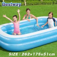 プール ビニールプール ファミリープール 大型 260×170cm 2気室 クッション性 水あそび レジャープール 家庭用プール ###プールAPL102-N###