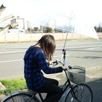 雨の日の通学!通勤!お買い物にとっても便利!   自転車用傘スタンドです☆   両手が空くので安心し...