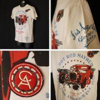 クリスチャンオードジェー Tシャツ メンズ 半袖 丸首 旧車ワッペン/白 B0CBDCVN  5017