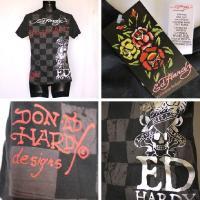 エドハーディー Tシャツ メンズ 特価EDHARDY 丸首半袖 スカル&カード/黒 ブラック