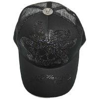 エドハーディー キャップ 帽子 メンズ レディース ラブキル ブラックラインストーン 黒 ブラック 正規品 EDHARDY 9351