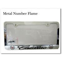カッコイイ!メタル素材のナンバーフレームです。 アメリカサイズなので日本のナンバープレートには取り付...
