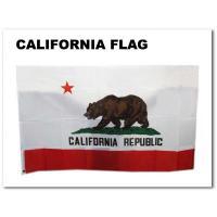 カリフォルニア州のフラッグです。  お部屋のインテリアなどに! 薄手素材で、角には丸い金具付きでフッ...