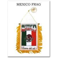 メキシコ国旗デザインです。  そのまま壁に掛けるのはもちろん、吸盤がついてるので車の中などにも取り付...